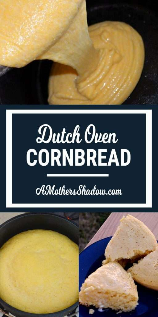 Cornbread cooked in the Dutch Oven