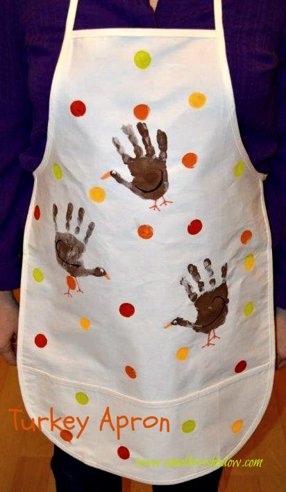 Hand Printed Turkey Apron