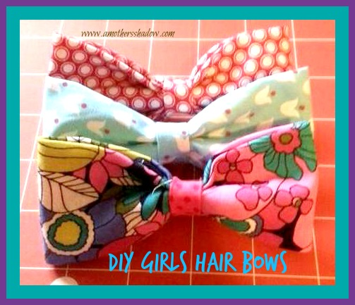 Homemade Hair Bow Clips