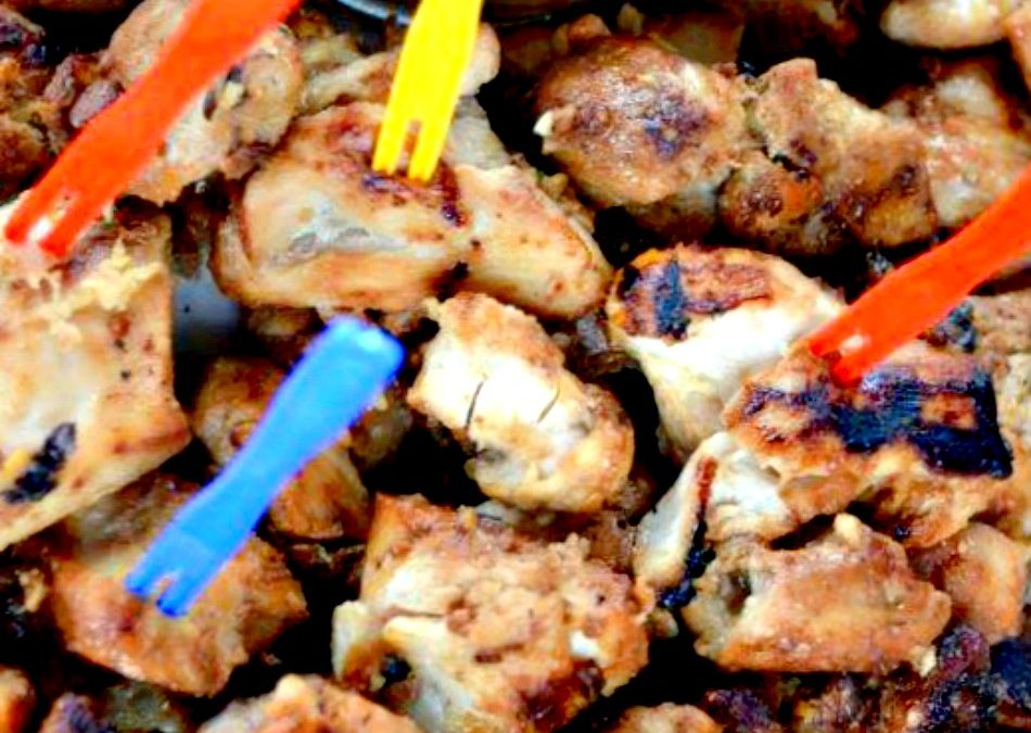 Chicken Satay Bites delicious grilled with peanut Sauce