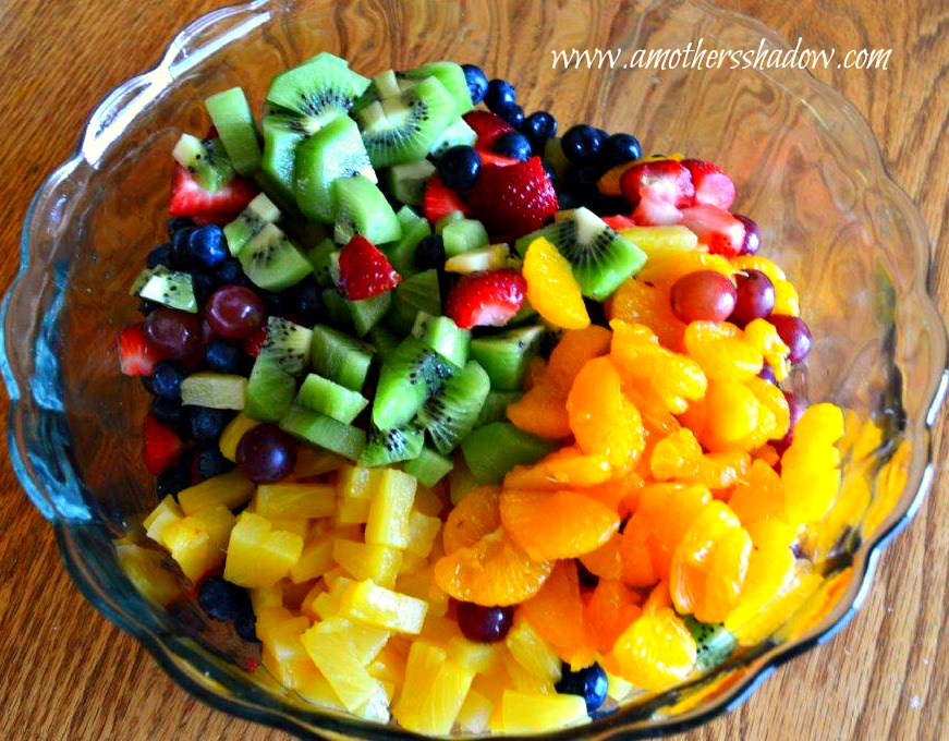 Glorious fresh fruit salad