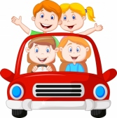 Cartoon_family : Road Trip with family cartoon