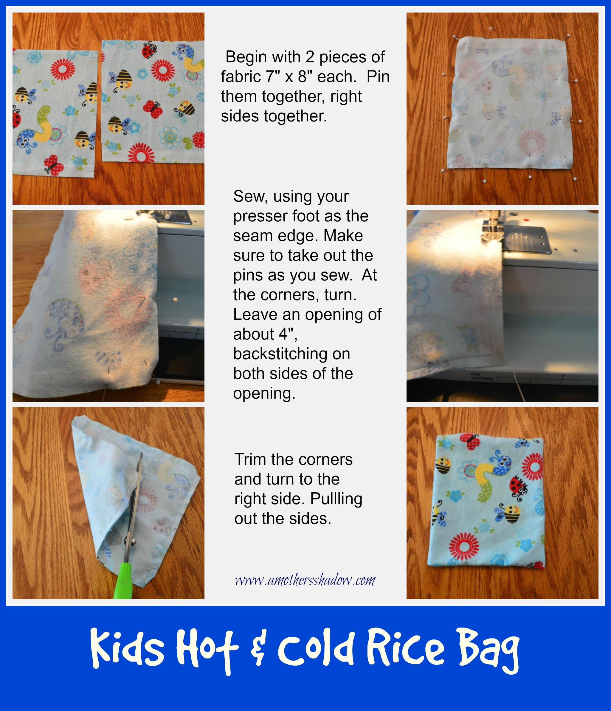 Kids Hot & Cold Rice Bag 1