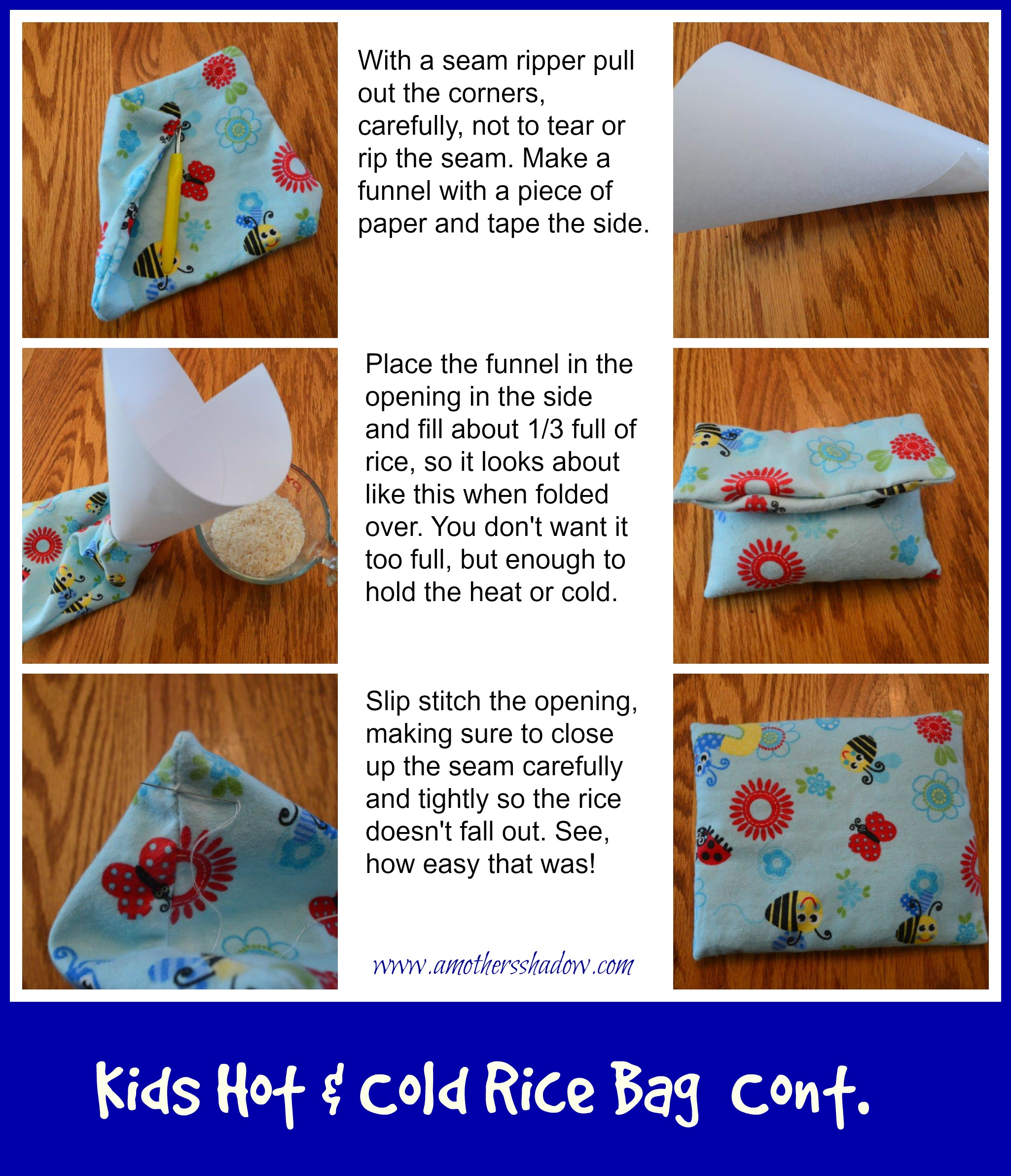 Kids Hot & Cold Rice Bag 2