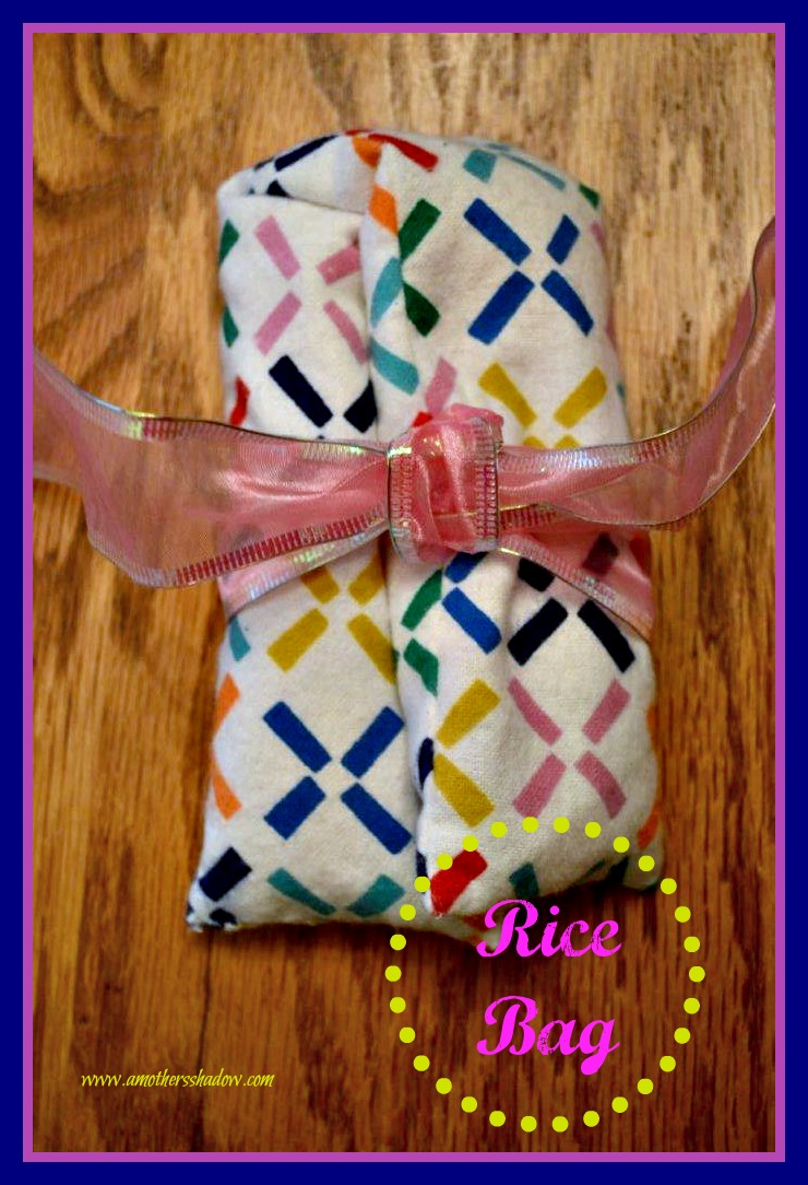 Microwave Rice Bags heating pads. No-Sew and easy sew. Great gifts