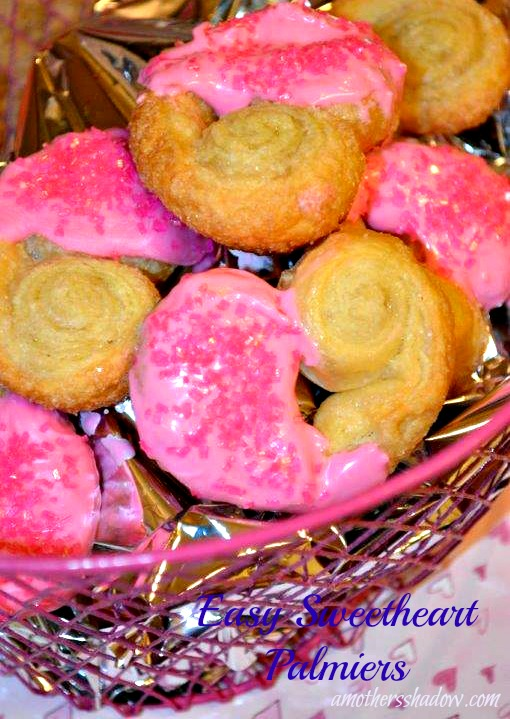 Valentines Day Sweetheart Palmiers
