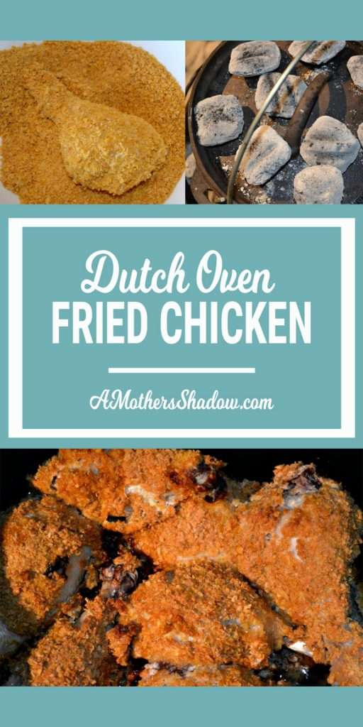 Fried chicken done in a dutch oven