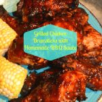 BEST EVER Grilled Chicken Drumsticks & Homemade BBQ Sauce