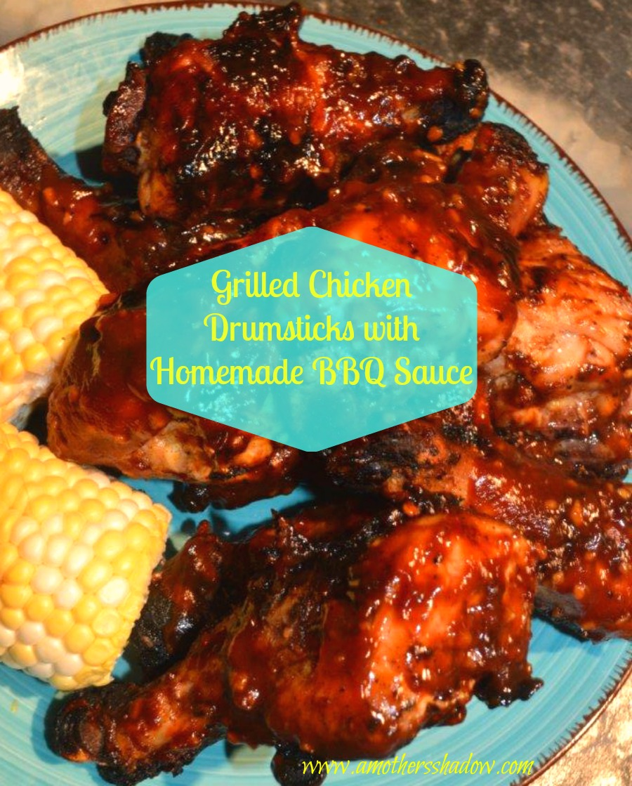 Grilled Chicken Drumsticks with Homemade BBQ Sauce
