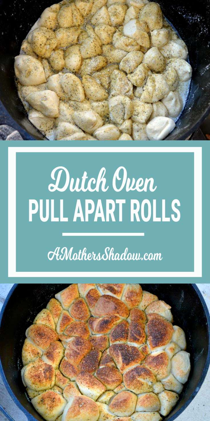 Butter Pull-Apart Rolls in the Dutch Oven