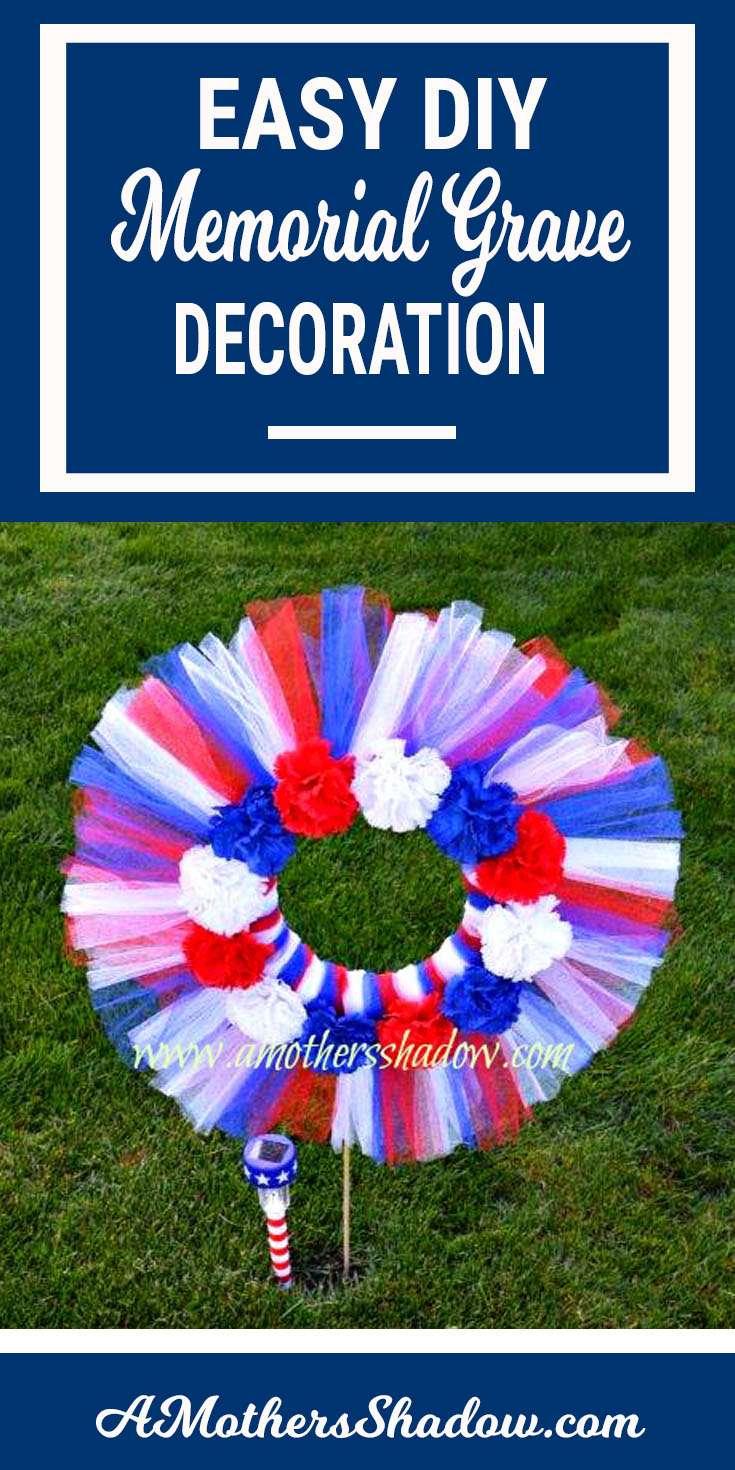 DIY Patriotic Memorial Decoration