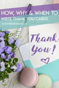 How to, who to and why write a thank you card