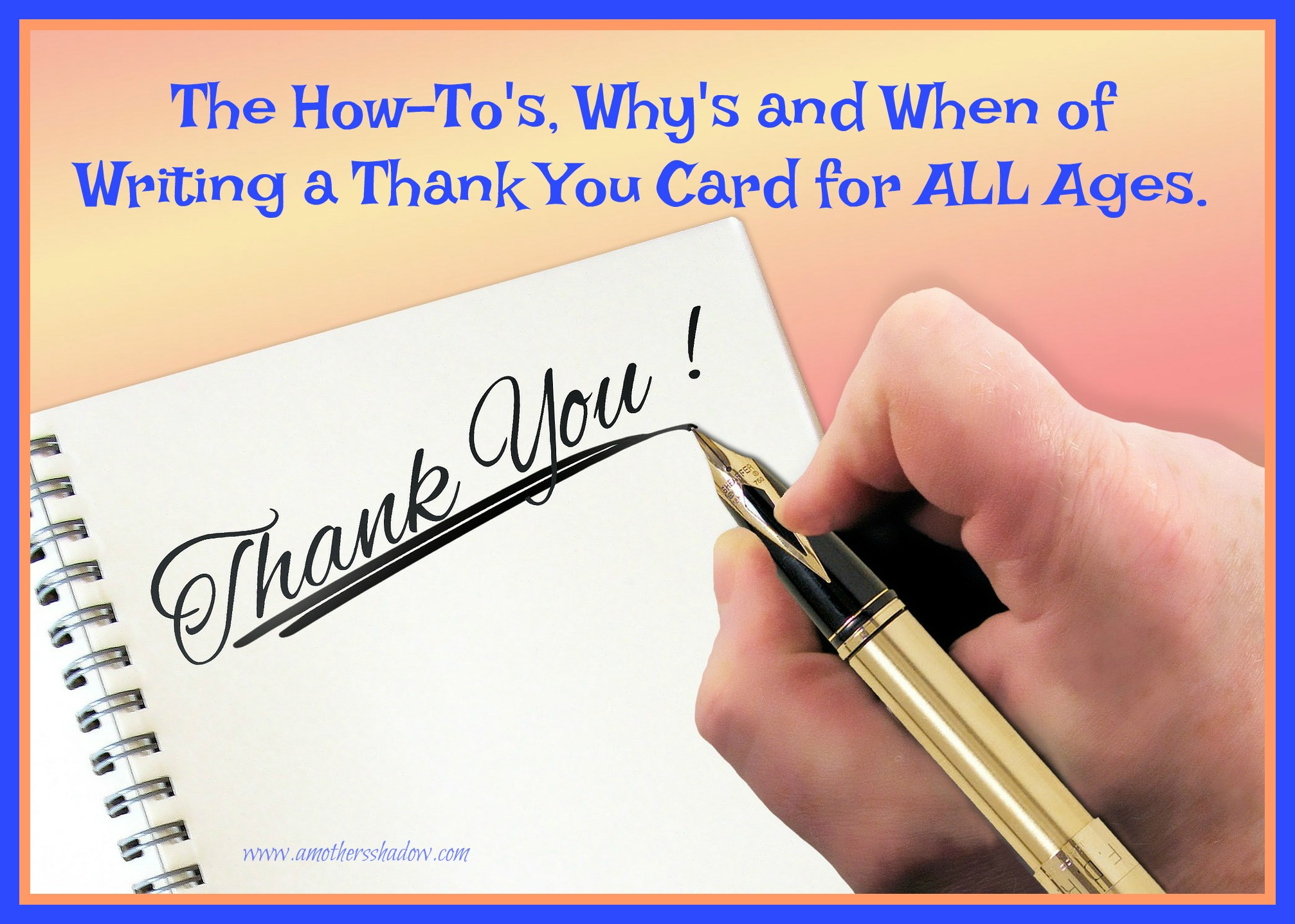 The polite and proper EASY way to write a thank you note