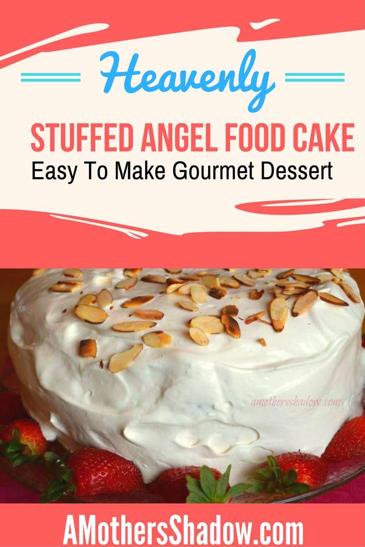 Almost Trifle Stuffed Angel Cake