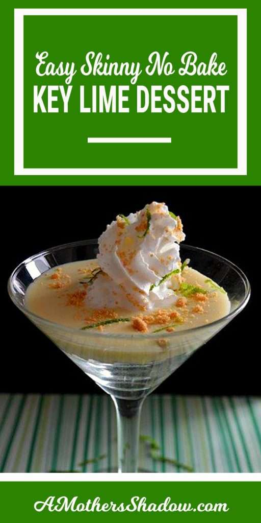 Low Fat Key Lime Dessert that has a beautiful presentation and also is delicious