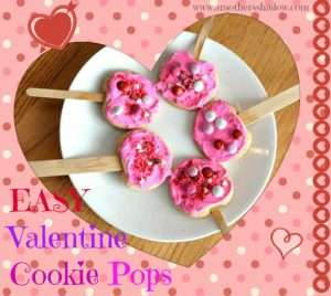 Valentines Cookies on a pop-sickle stick