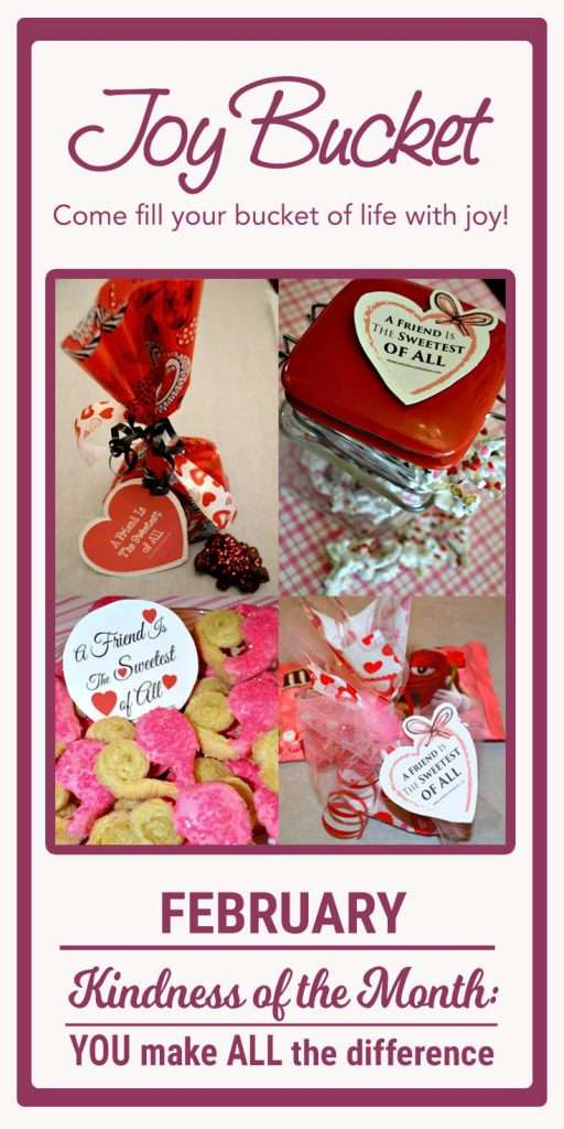 A printable is attached for download tags for giving to others that are Valentine specific. They can be put on a treat or a small gift to let a friend, family member or co-worker know that you are thinking of them at this holiday time.