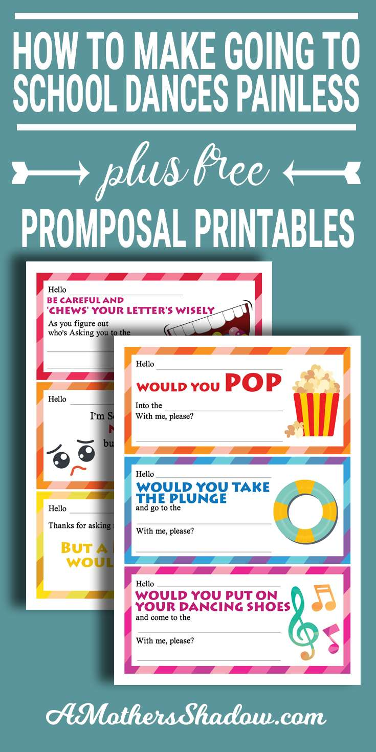 How To  Make Going To A High School Dance Painless and Printables