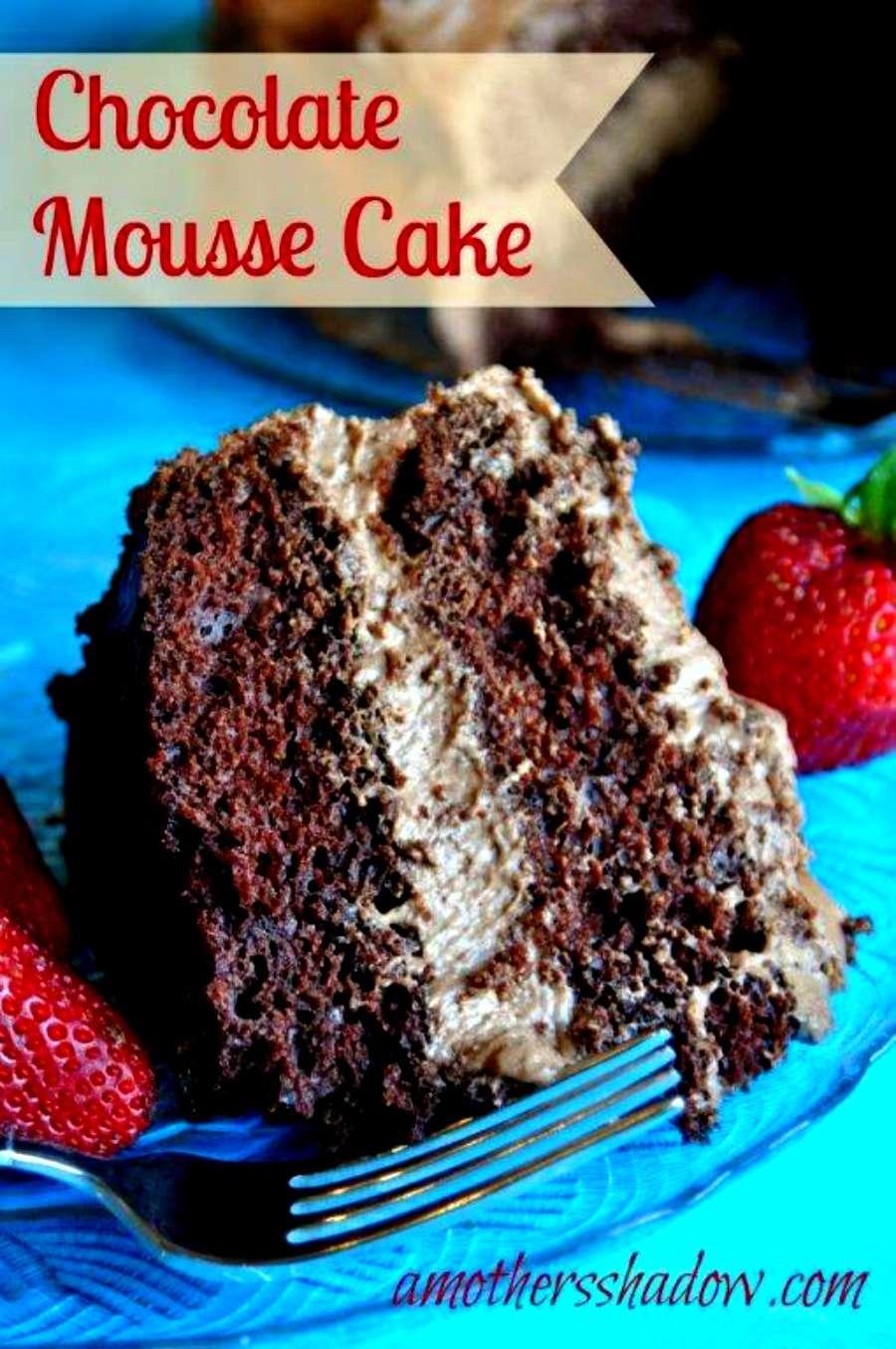 Easy Decadent Chocolate Mousse Cake