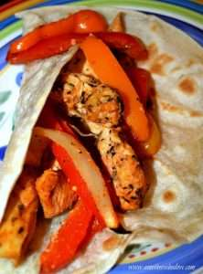 Perfect seasonings, Chicken, bell pepper, onion and condiments make this the BEST Chicken Fajita