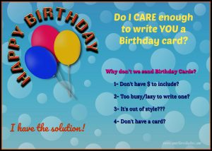 The reasons why we don't write birthday cards, but I have a post that tells you why we should.