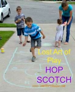 learn how to play hopscotch