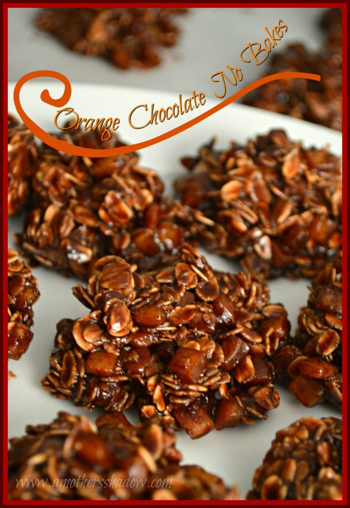 chocolate no bake cookie with candied orange peel