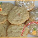 cookies with candied pineapple and candied orange peel with a glaze or powdered sugar