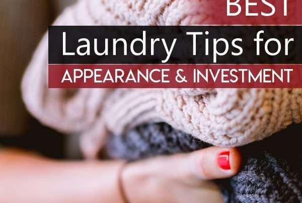How to do laundry for appearance and investment