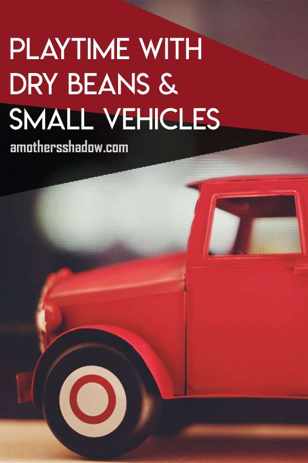 Playtime with Dry Beans and Small Toy Vehicles