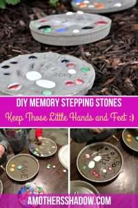 A stepping stone with hand prints or embellishments. As a keepsake or gift
