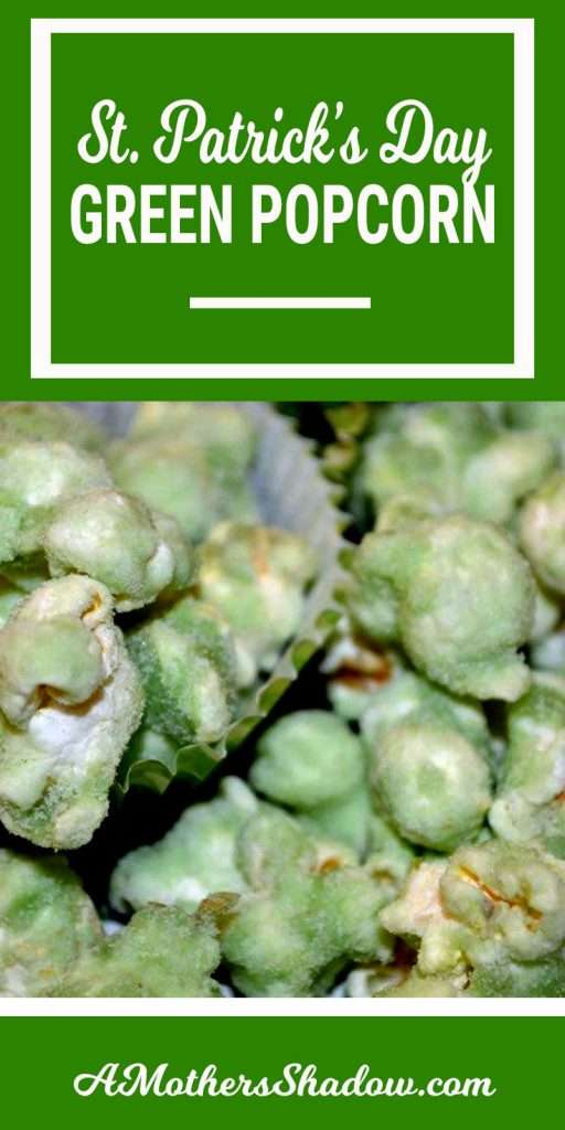 Green popcorn that is perfect for St. Patrick's Day. This type is known as Mother Goose or Granny Corn or even Sugar Corn. It's unique and perfect for St. Patrick's!