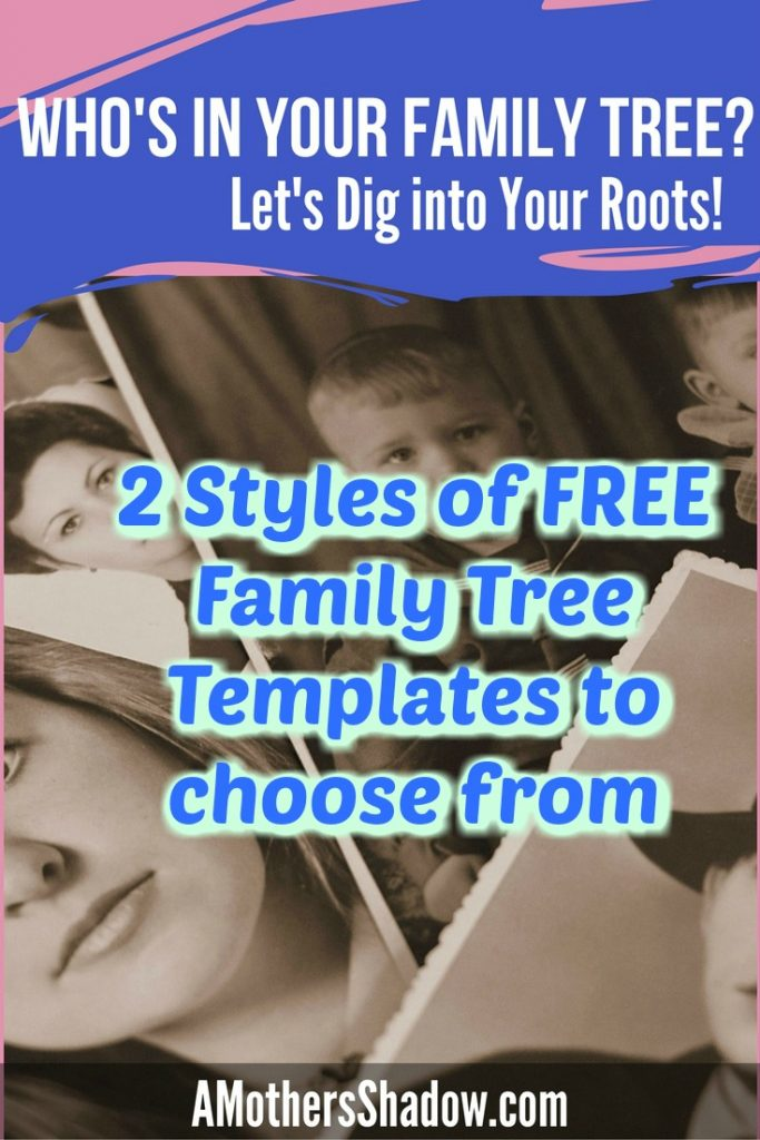 Fill In Family Tree With Pictures Template A Mothers Shadow