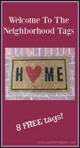 In this post are eight tags to attach to small gifts or homemade goodies
