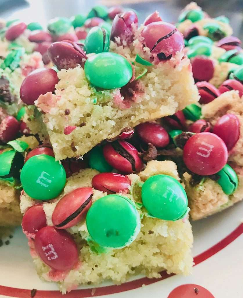Sugar Cookie Bars with M&M's
