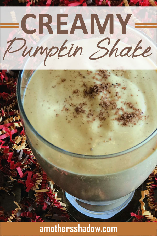 A pumpkin shake