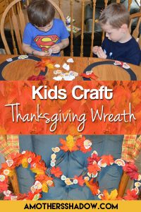 A fall thanksgiving wreath for kids and toddlers to make